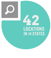 47 locations in 16 states