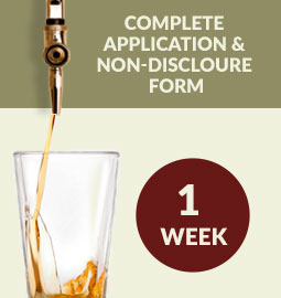 Step 1 - Complete Application & Non-Disclosure Form: 1 week