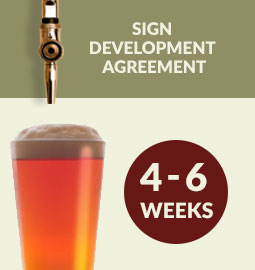 Step 7 - Sign development agreement: 4 - 6 weeks